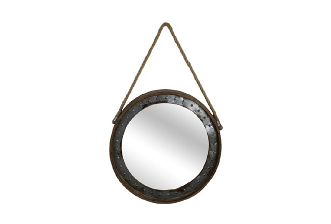 Metal Framed Mirror With Hanging Rope | Living Spaces