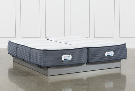 Brayton Plush California King Split Mattress Set