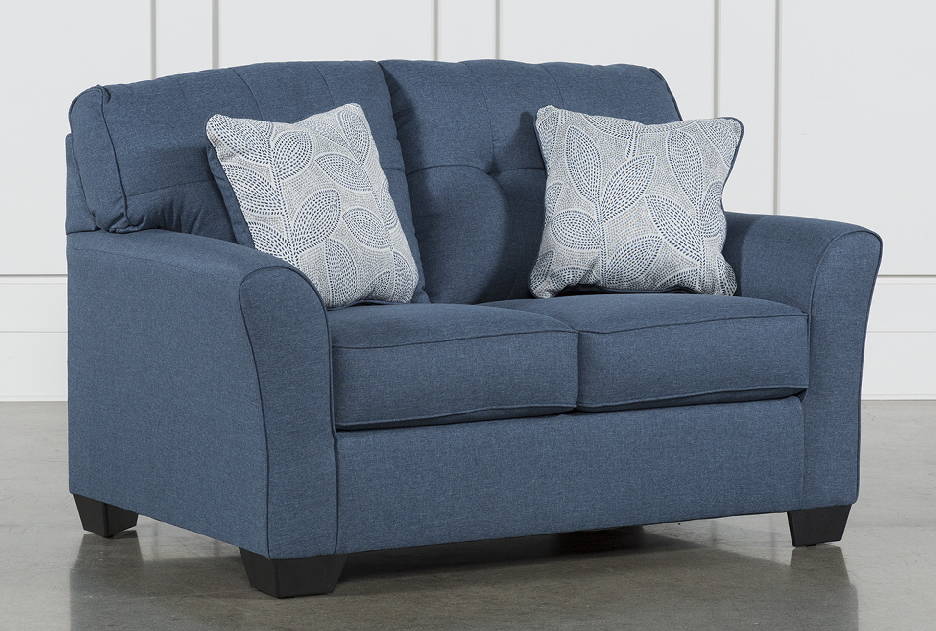 Picture of: Jacoby Denim 61 Loveseat Living Spaces