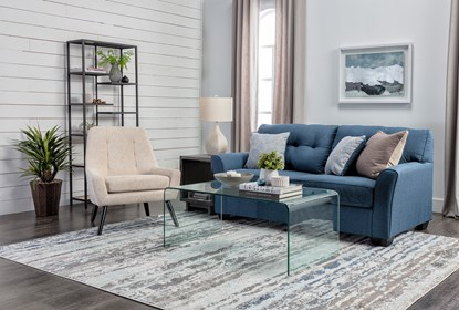 Jacoby Denim 3 Piece Living Room Set Living Spaces