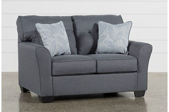 "Jacoby Gunmetal 61"" Loveseat"