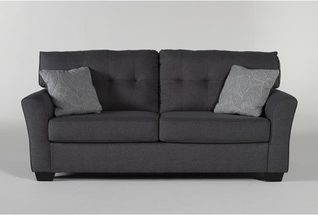 "Jacoby Gunmetal 78"" Sofa - 360"
