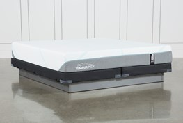 Tempur-Adapt Medium Eastern King Mattress And Low Profile Foundation