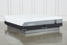 Tempur-Adapt Medium Cal King Mattress And Low Profile Foundation