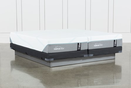 Tempur-Adapt Medium Split Cal King Mattress And Low Profile Foundation