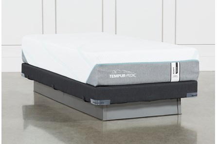 Tempur-Adapt Medium Hybrid Twin Xl Mattress And Low Profile Foundation