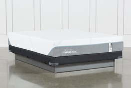 Tempur-Adapt Medium Hybrid Queen Mattress And Low Profile Foundation