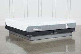 Tempur-Adapt Medium Hybrid Eastern King Mattress And Low Profile Foundation