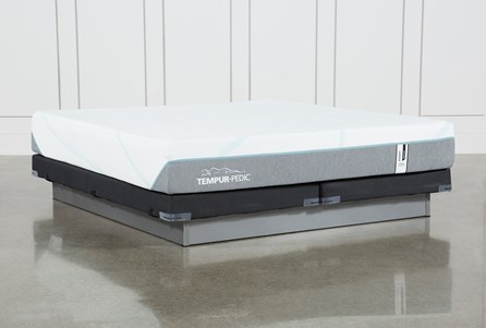 Tempur-Adapt Medium Hybrid Eastern King Mattress And Low Profile Foundation