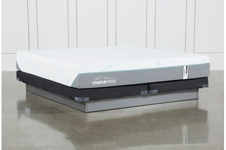 Tempur-Adapt Medium Hybrid Eastern King Mattress And Low Profile Foundation - Main