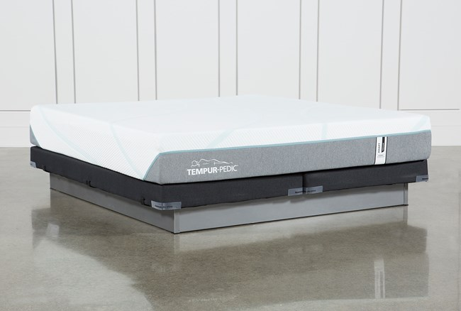 Tempur-Adapt Medium Hybrid Eastern King Mattress And Low Profile Foundation - 360