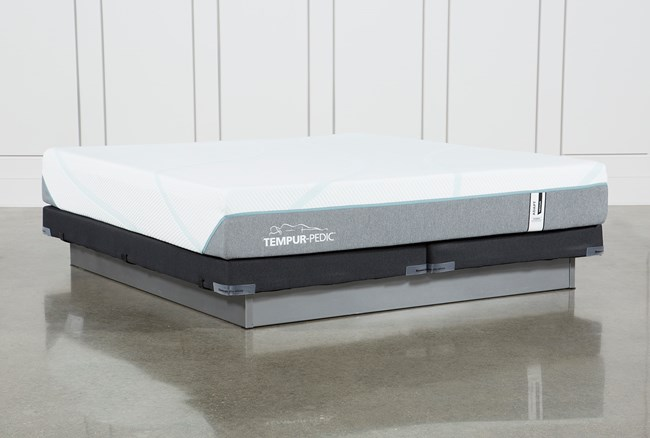Tempur-Adapt Medium Hybrid Cal King Mattress And Low Profile Foundation - 360