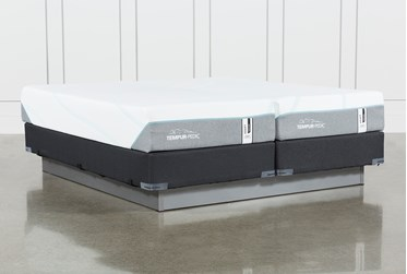 Tempur-Adapt Medium Hybrid Split Cal King Mattress And Foundation