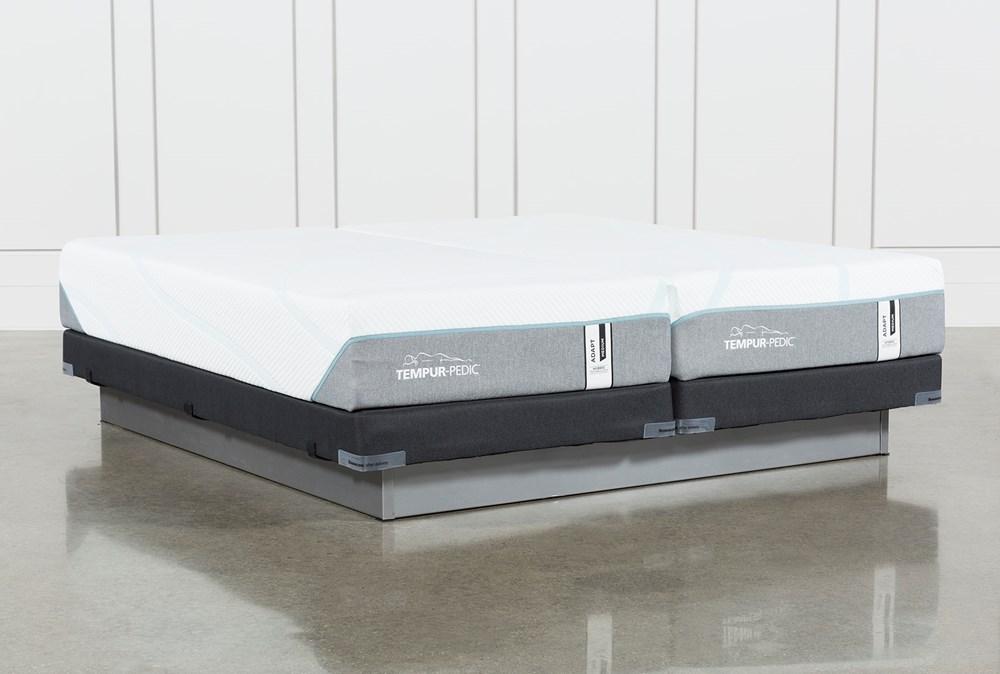 Tempur-Adapt Medium Hybrid Split Cal King Mattress And Low Profile Foundation