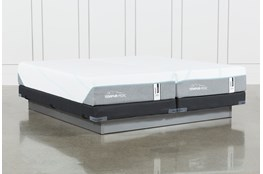 Tempur-Adapt Medium Hybrid Split Cal King Mattress And Low Profile Foundation