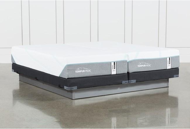 Tempur-Adapt Medium Hybrid Split Cal King Mattress And Low Profile Foundation - 360