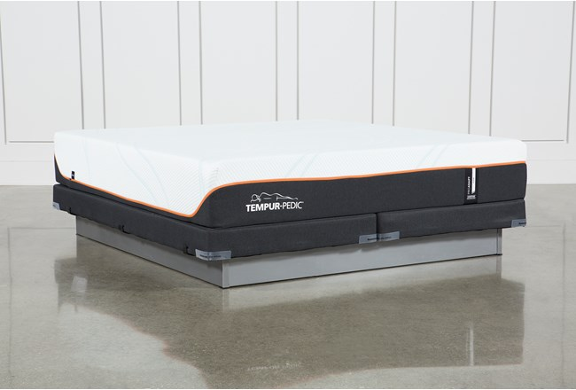 Tempur-Pro Adapt Firm Cal King Mattress And Low Profile Foundation - 360