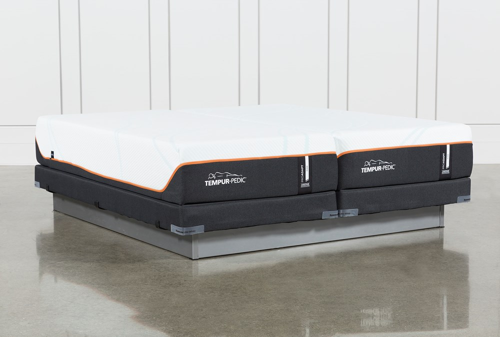 Tempur-Pro Adapt Firm Split Cal King Mattress And Low Profile Foundation