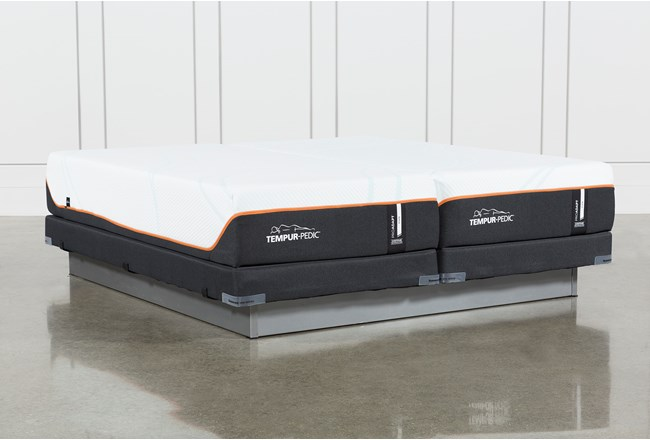 Tempur-Pro Adapt Firm Split Cal King Mattress And Low Profile Foundation - 360