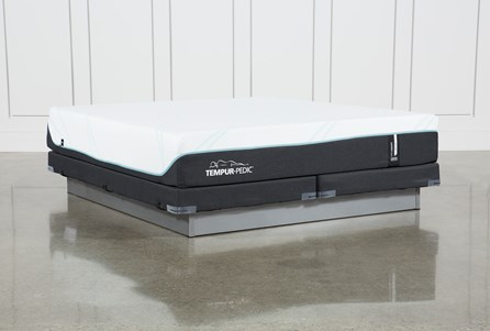 Tempur-Pro Adapt Medium Cal King Mattress And Low Profile Foundation
