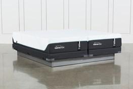 Tempur-Pro Adapt Medium Cal King Split Mattress And Low Profile Foundation