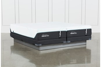 Tempur-Pro Adapt Medium Cal King Split Mattress And Low Profile Foundation