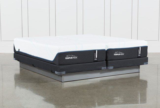 Tempur-Pro Adapt Soft Split Cal King Mattress And Low Profile Foundation - 360