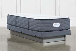 Brayton Plush Twin Extra Long Mattress And Low Profile Foundation