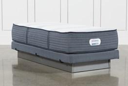 Brayton Plush Twin Extra Long Mattress And Low Profile Foundation
