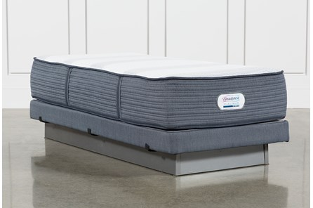 Brayton Plush Twin Extra Long Mattress And Low Profile Foundation - Main