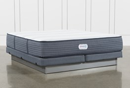 Brayton Plush Eastern King Mattress And Low Profile Foundation