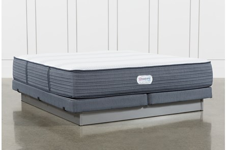 Brayton Plush Eastern King Mattress And Low Profile Foundation - Main