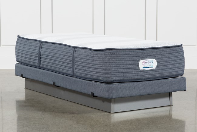 Brayton Medium Twin Extra Long Mattress And Low Profile Foundation - 360
