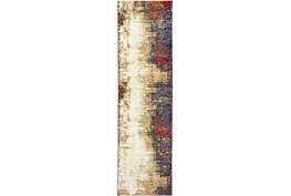 """2'5""""x12' Rug-Marshall Charcoal And Red"""