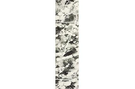30X144 Rug-Marshall Black And White