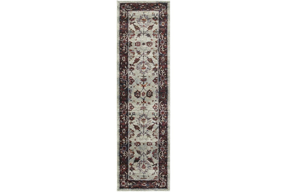 30X144 Rug-Mariam Moroccan Stone/Red