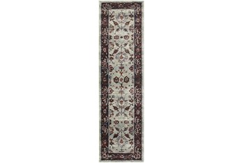 """2'5""""x12' Rug-Mariam Moroccan Stone/Red"""