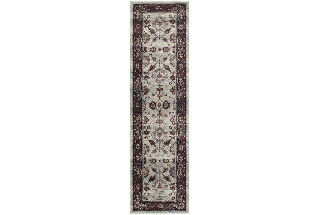 30X144 Rug-Mariam Moroccan Stone/Red - 360