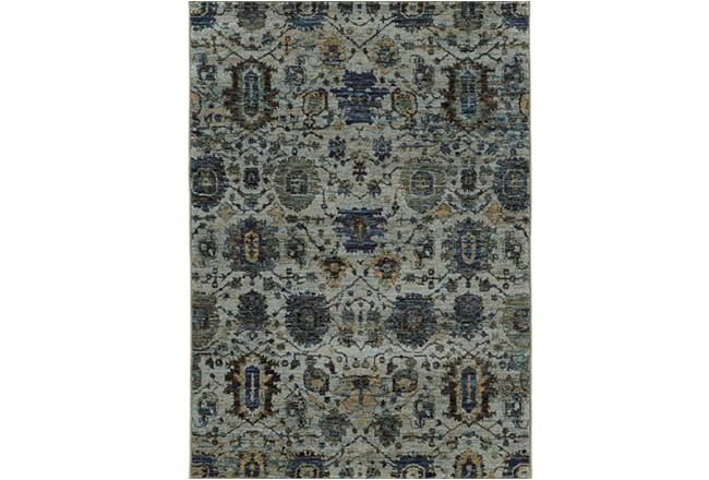120X158 Rug-Yasmine Moroccan Blue/Olive - 360