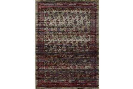 120X158 Rug-Elodie Moroccan Red
