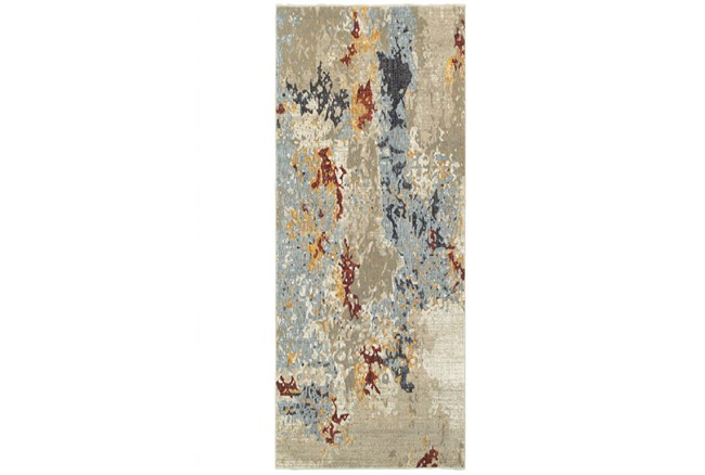 30X144 Rug-Marshall Stone And Blue - 360