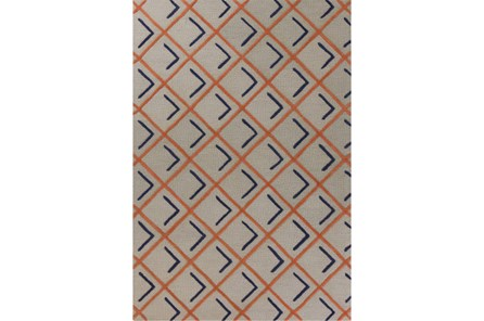 60X84 Rug-Diamond Shadows Tangerine And Indigo - Main