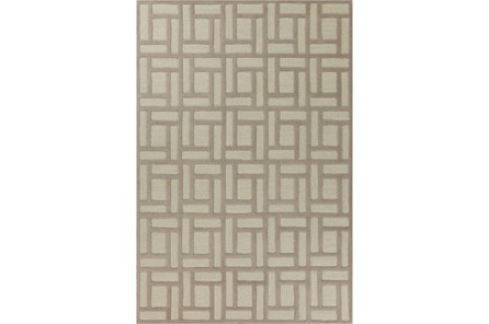 90X114 Rug-Brickwork Tan/Ivory