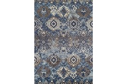 "4'9""x7' Rug-Joshua Stamped Tribal Navy"