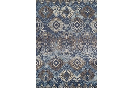 59X84 Rug-Joshua Stamped Tribal Navy