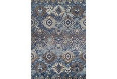 98X120 Rug-Joshua Stamped Tribal Navy