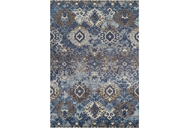 98x120 Rug Joshua Stamped Tribal Navy Living Spaces
