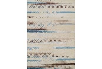 "3'3""x5'1"" Rug-Joshua Faded Overlay Ivory/Blue"
