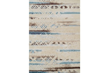 39X61 Rug-Joshua Faded Overlay Ivory/Blue