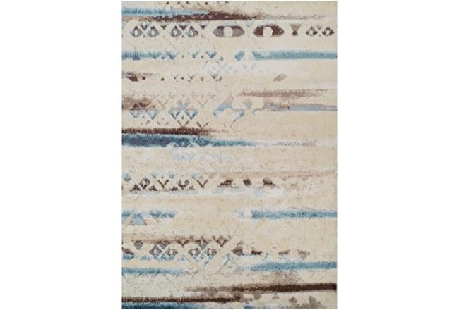 59X84 Rug-Joshua Faded Overlay Ivory/Blue - 360